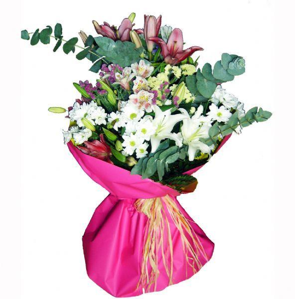 ramo de flores mixto para enviar a domicilio como regalo