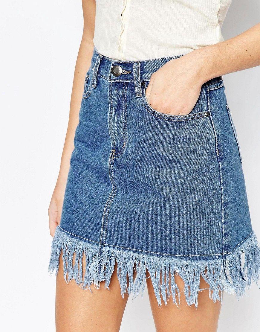 0d96698b0 DECORATION VINTAGE en 2019 | diy | Polleras de jeans, Faldas cortas ...