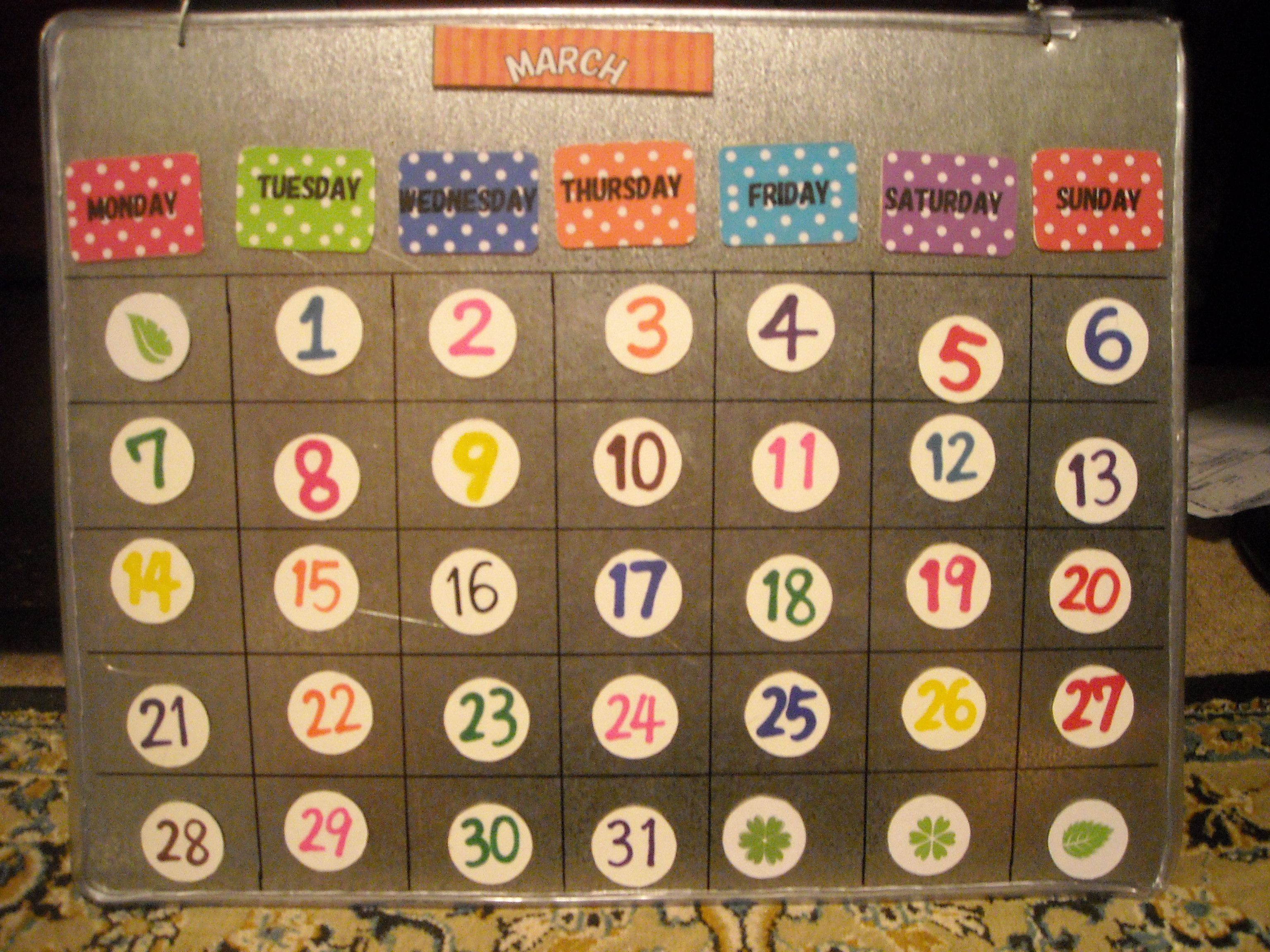 A Magnetic Classroom Calendar That Can Help Me Teach Magnets