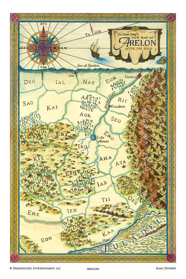 Elantris Maps Poster Set