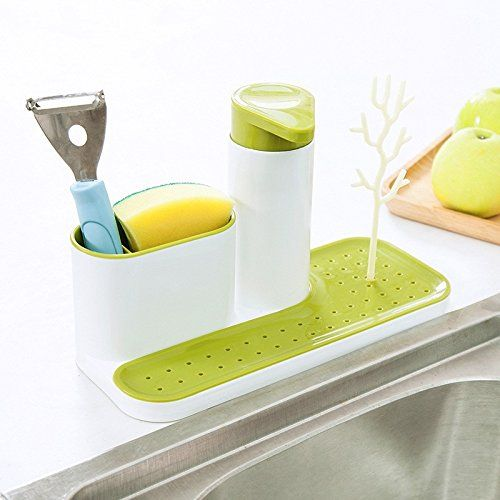 HOME CUBE® 3 IN 1 Stand for Kitchen Sink With Liquid Soap ...