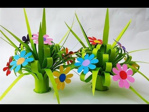 DIY - How to make Paper Flower Bouquet | Simple Paper Crafts Home Decor Ideas