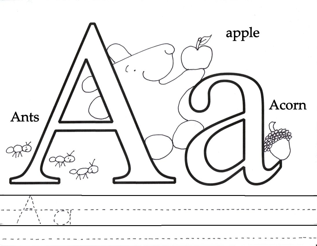 Letter A Coloring Pages, Printable