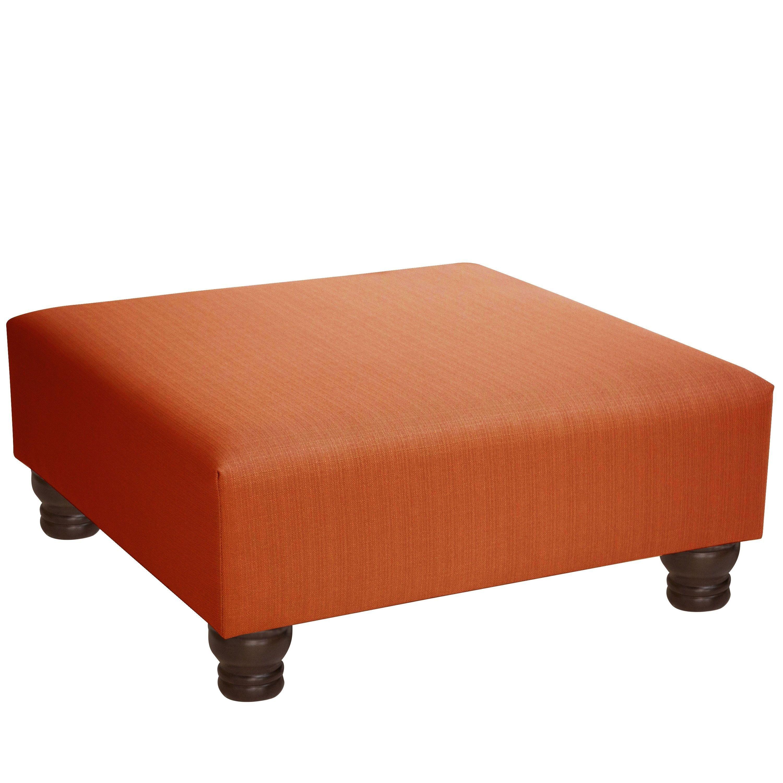 Skyline furniture pine espresso klein woven ottoman orange size medium