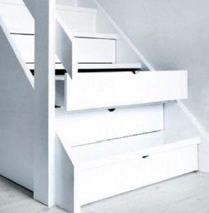 De ruimte onder een trap hoeft helemaal geen verloren ruimte te zijn.