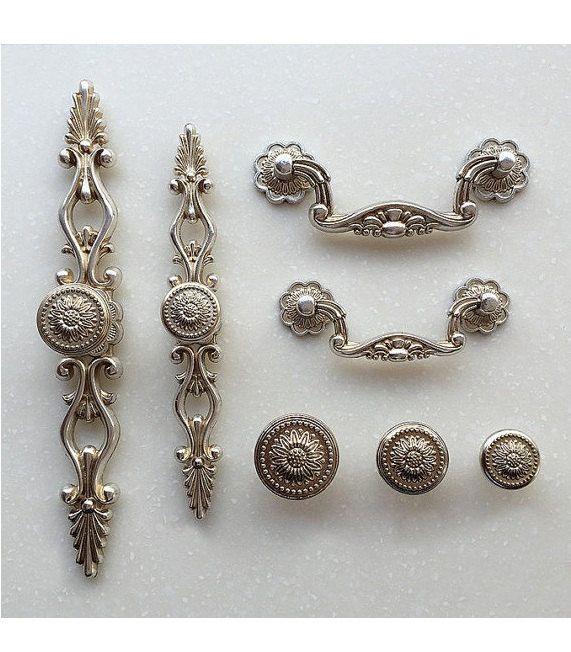 French Shabby Chic Dresser Drawer Pulls Handles / Antique ...