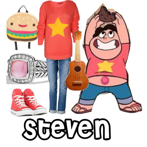 Steven - Steven Universe by th3th1rtyon3 on Polyvore featuring Boohoo, J Brand, Converse and David Yurman