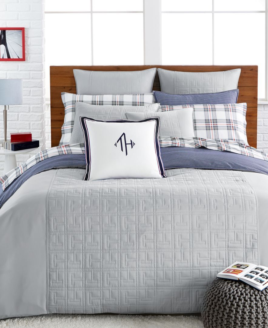 Tommy Hilfiger Bettwäsche Tommy Hilfiger Academy Gray Twin Duvet Cover Products In 2018