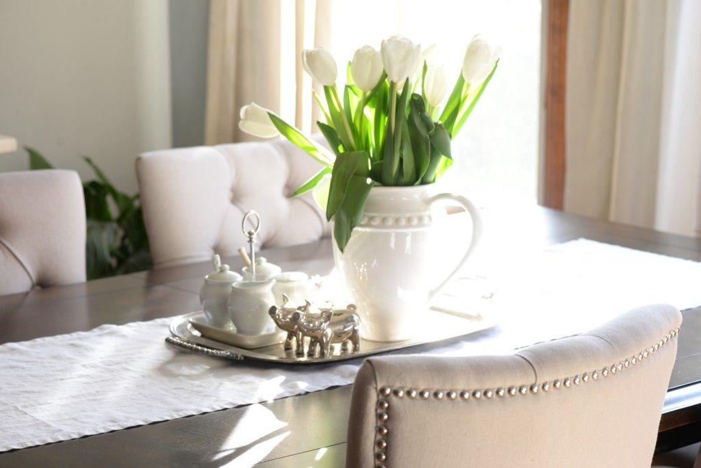 Simple Spring Tulip Farmhouse Chic Centerpiece