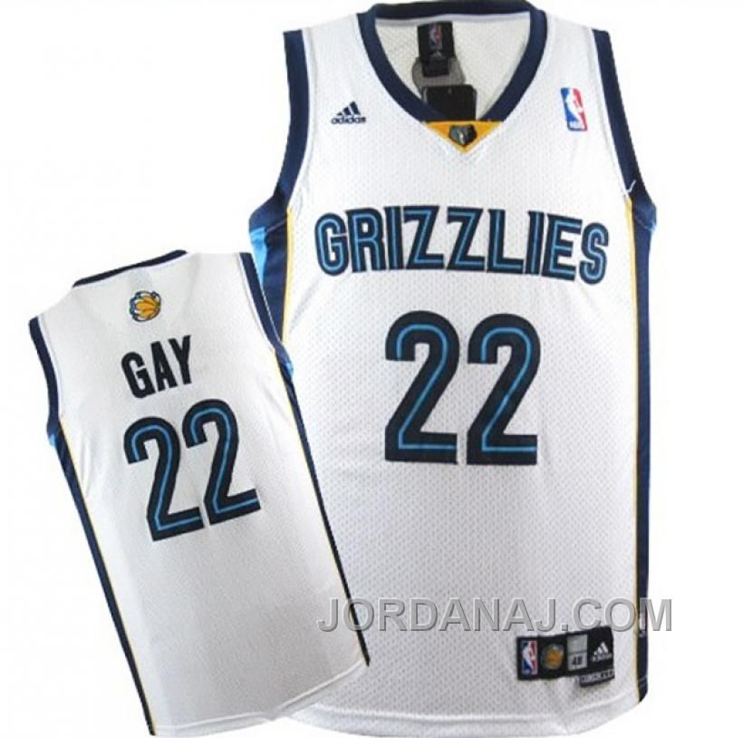 73f54d08058 ... Mens Rudy Gay White Swingman Home Jersey Memphis Grizzlies 22 Rudy Gay Swingman  White Jersey ...