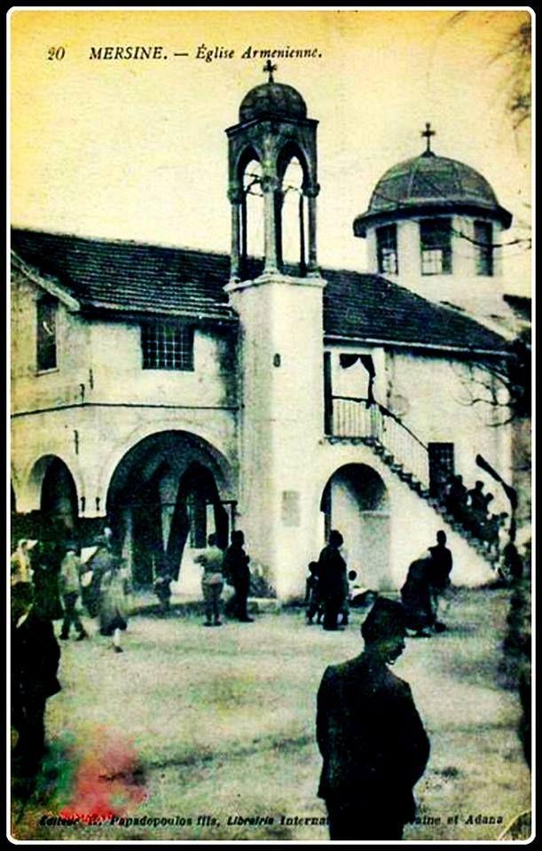 Mersin-Ermeni Kilisesi ve Okulu-1920..Edt.Kyrkias Papadopoulos...Bu kilisede yıkılmıştır...