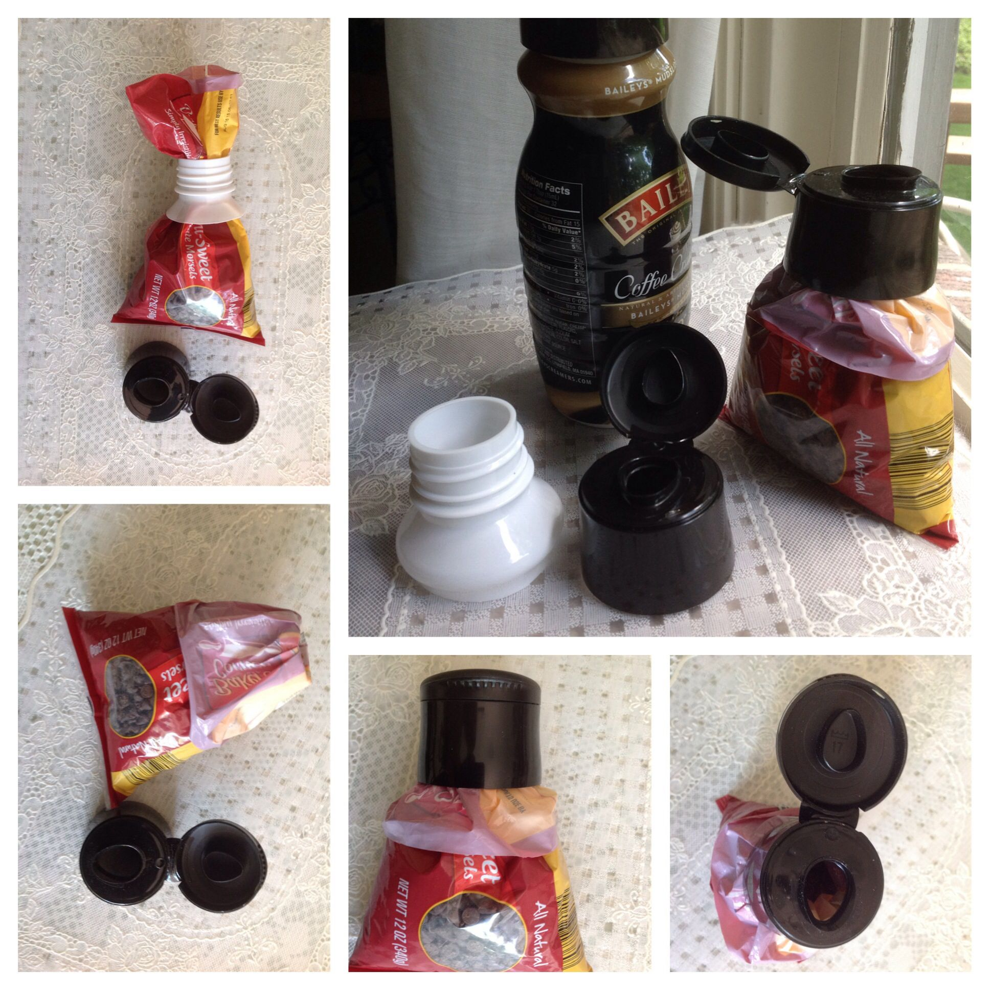 DIY Useful Tip... Reuse coffee creamer container. Save