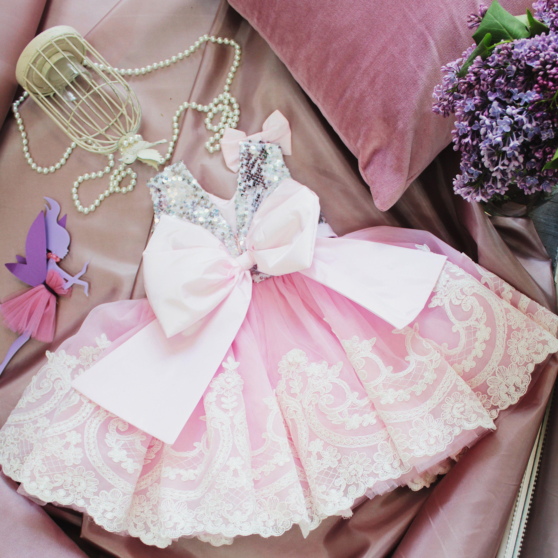 Girl dress pink tutu dress sequin girls tutu dress for baby tutu