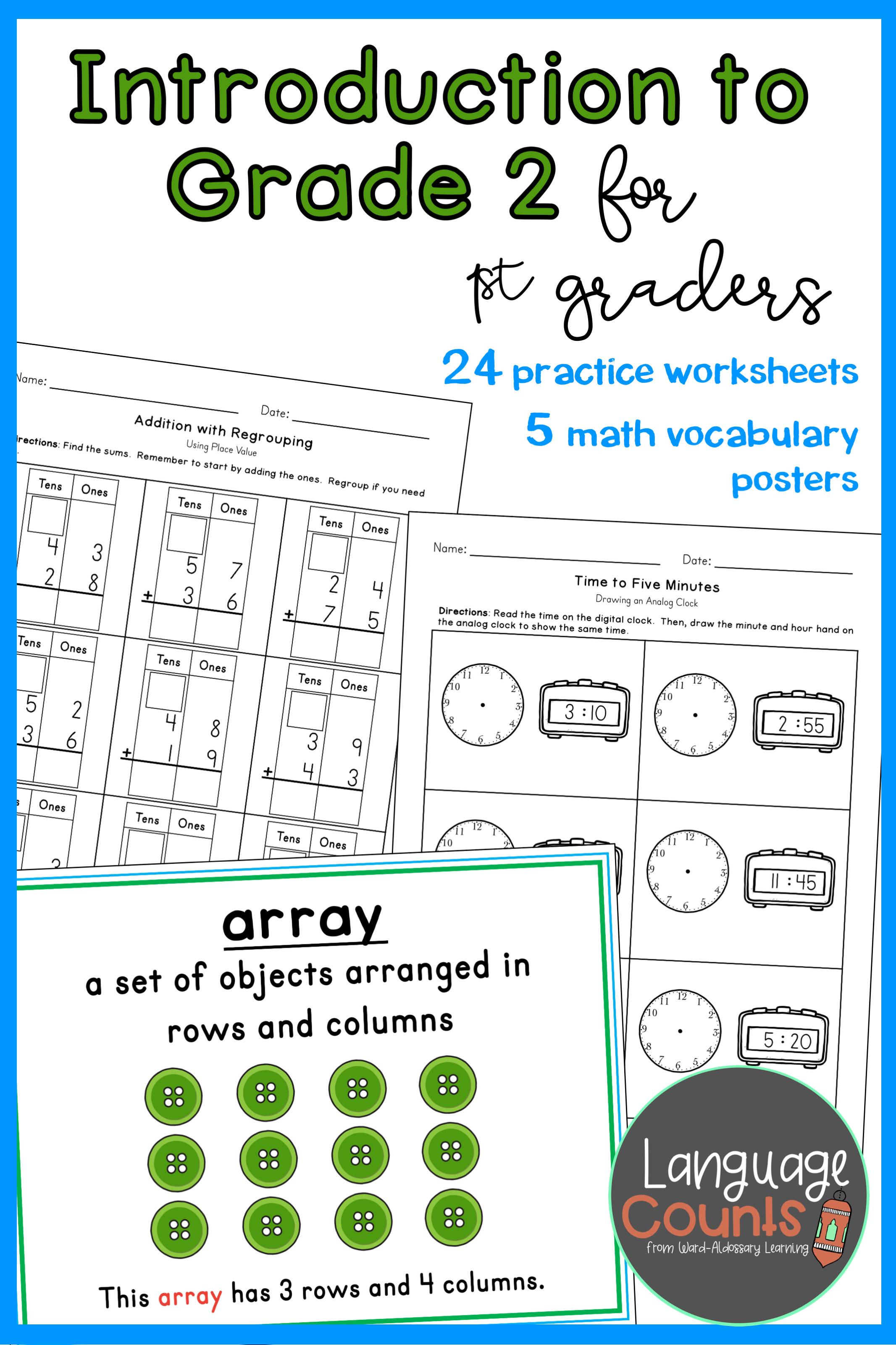 Introduction to Grade 2 Topics- 1st Grade   Elementary school math [ 3200 x 2133 Pixel ]