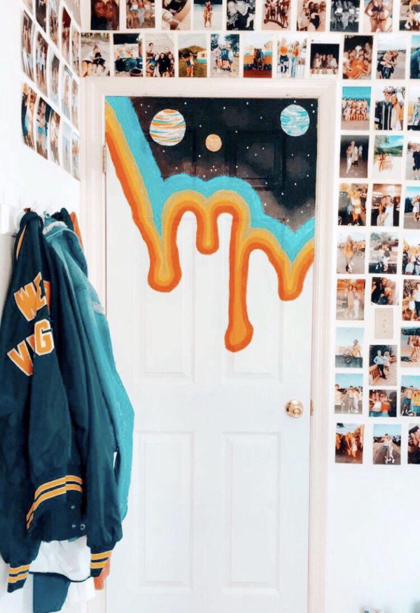 Room Aesthetics Painted Bedroom Doors Room Decor Cute Room Decor