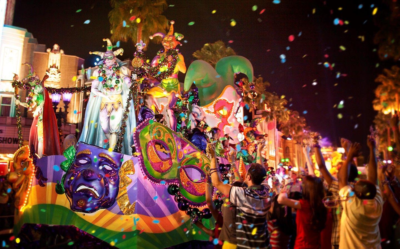 Carro alegorico no Mardi Gras