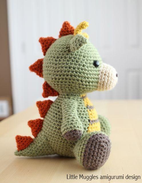 Amigurumi Pattern - Spike the Dragon | Häkeln, Häckeln und Handarbeiten
