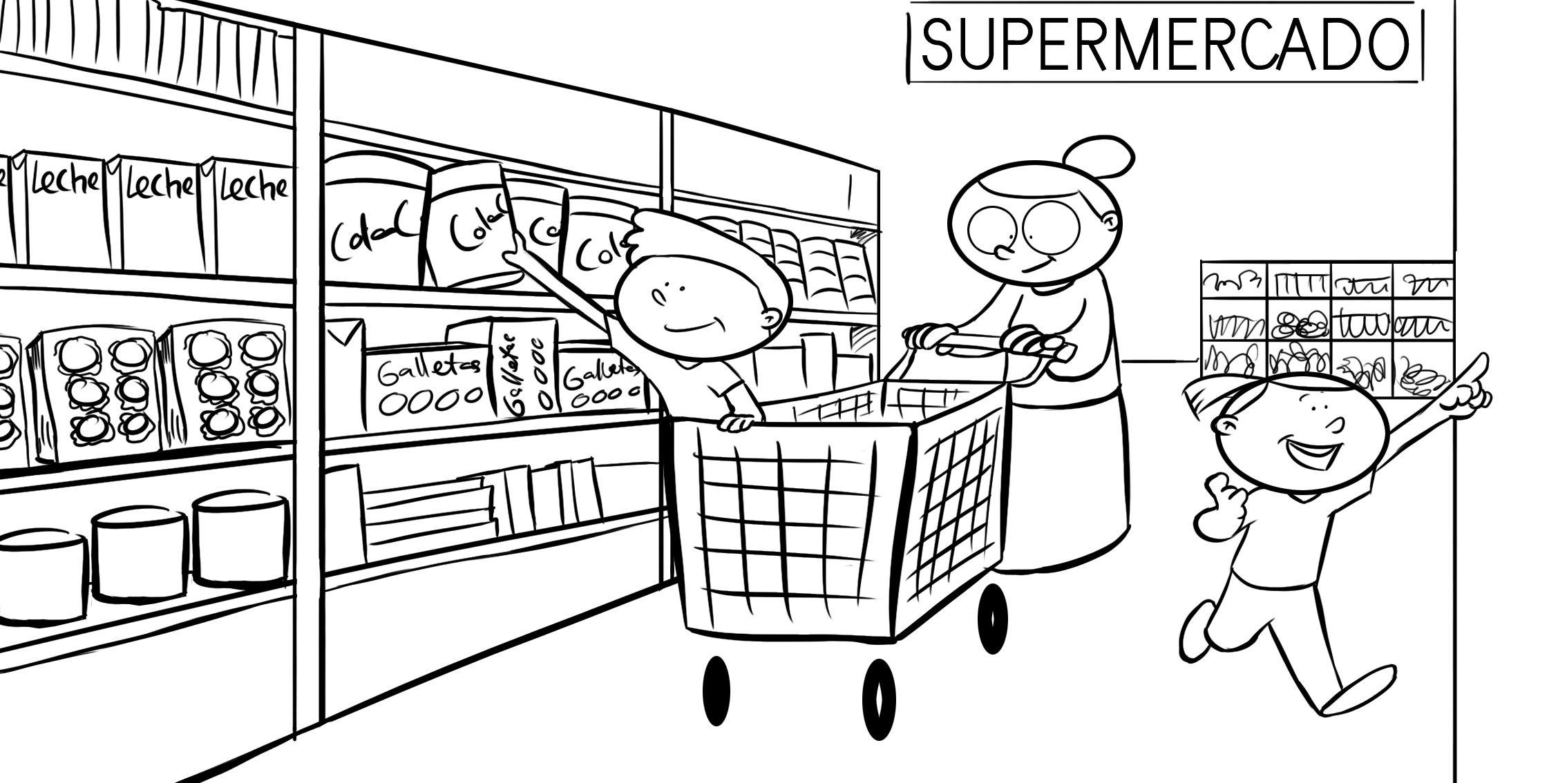 Abuela comprando en el supermercado con sus nietos | CITY ...