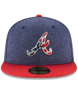 buy popular aff2c 7af93 New Era Atlanta Braves Authentic Collection Stars   Stripes 59FIFTY Cap -  Blue 7 1 4