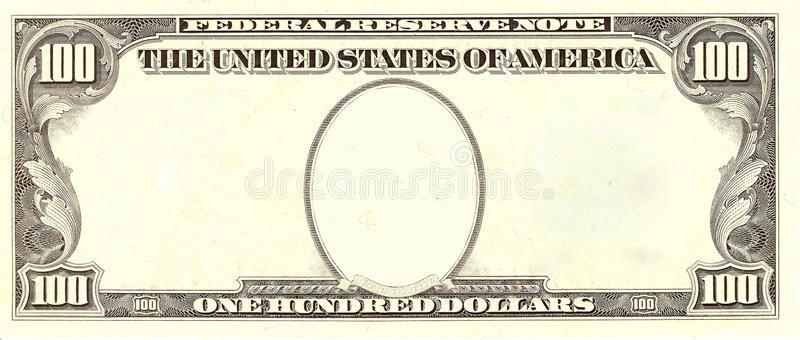 Blank 100 Dollar Bill Portrait Side 1983 Series Blank 100 Dollar Bank Note Bes Sponsored Bill Portrait Side 100 Dollar Bill Dollar Bill 100 Dollar