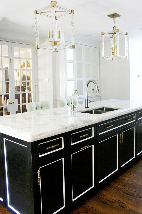 A Dated Kitchen Gets Stunning Modern Makeover Black Cabinetswhite