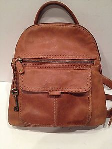 ce327182fd FOSSIL-BROWN-LEATHER-BACKPACK eBay  51