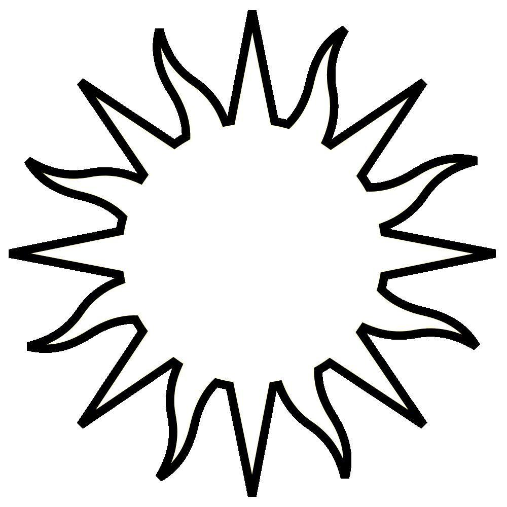 Ausmalbilder Sonne über Bastelvorlage Sonne  Ausmalbilder