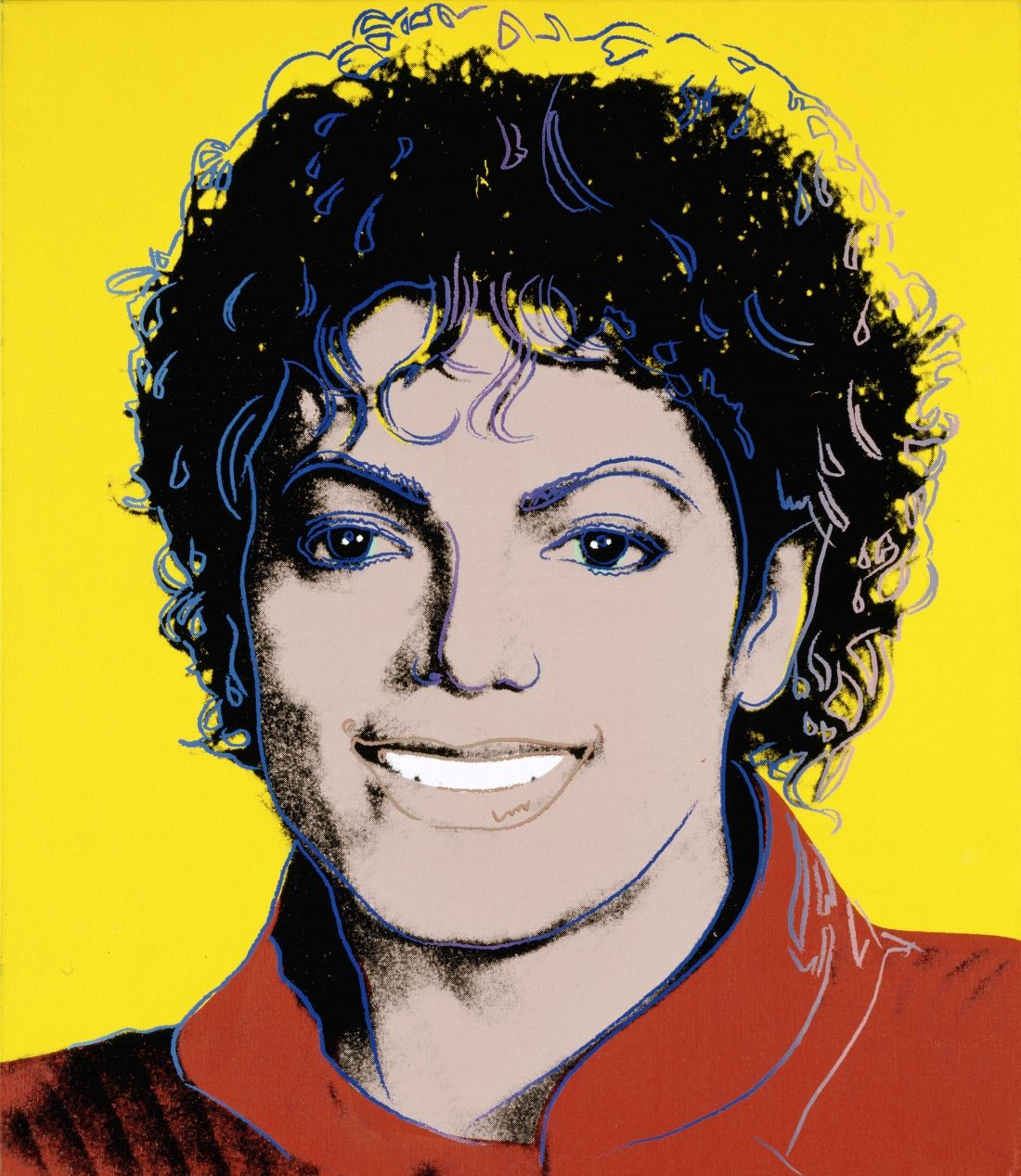 Michael Jackson by Andy Warhol 1984. National Portrait