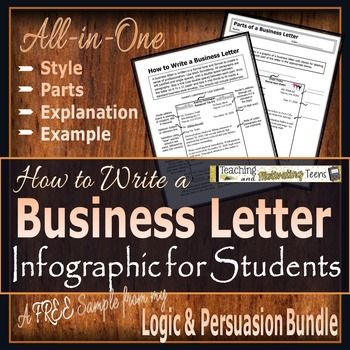 How To Write A Business Letter Infographic For Students Freebie