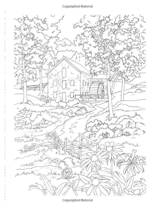 Phenomenal Country Scenes To Paint Or Color Dover Art Coloring Book Download Free Architecture Designs Scobabritishbridgeorg
