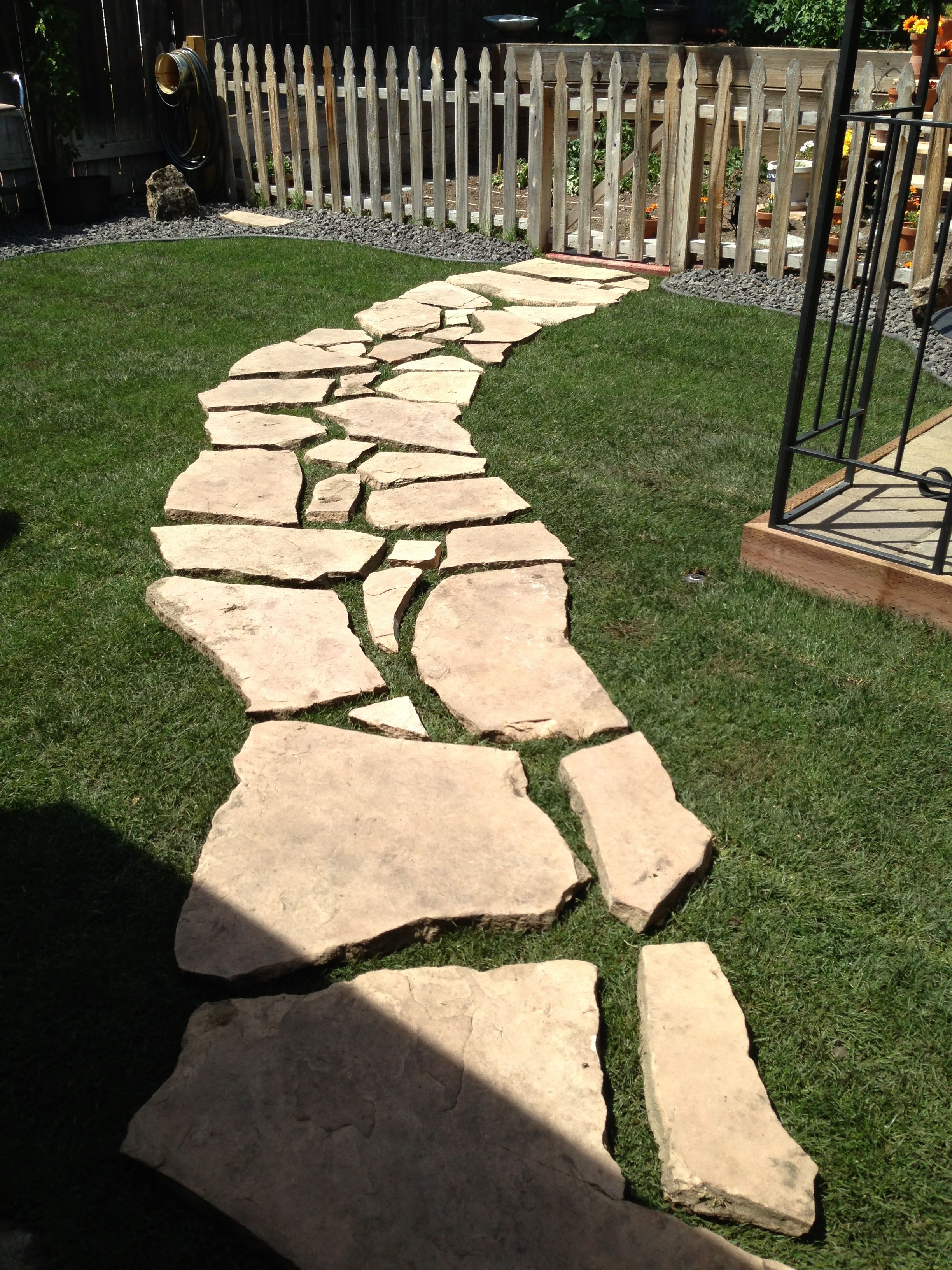 Flag Stone Walking Path Patio Stones Lawn And Garden