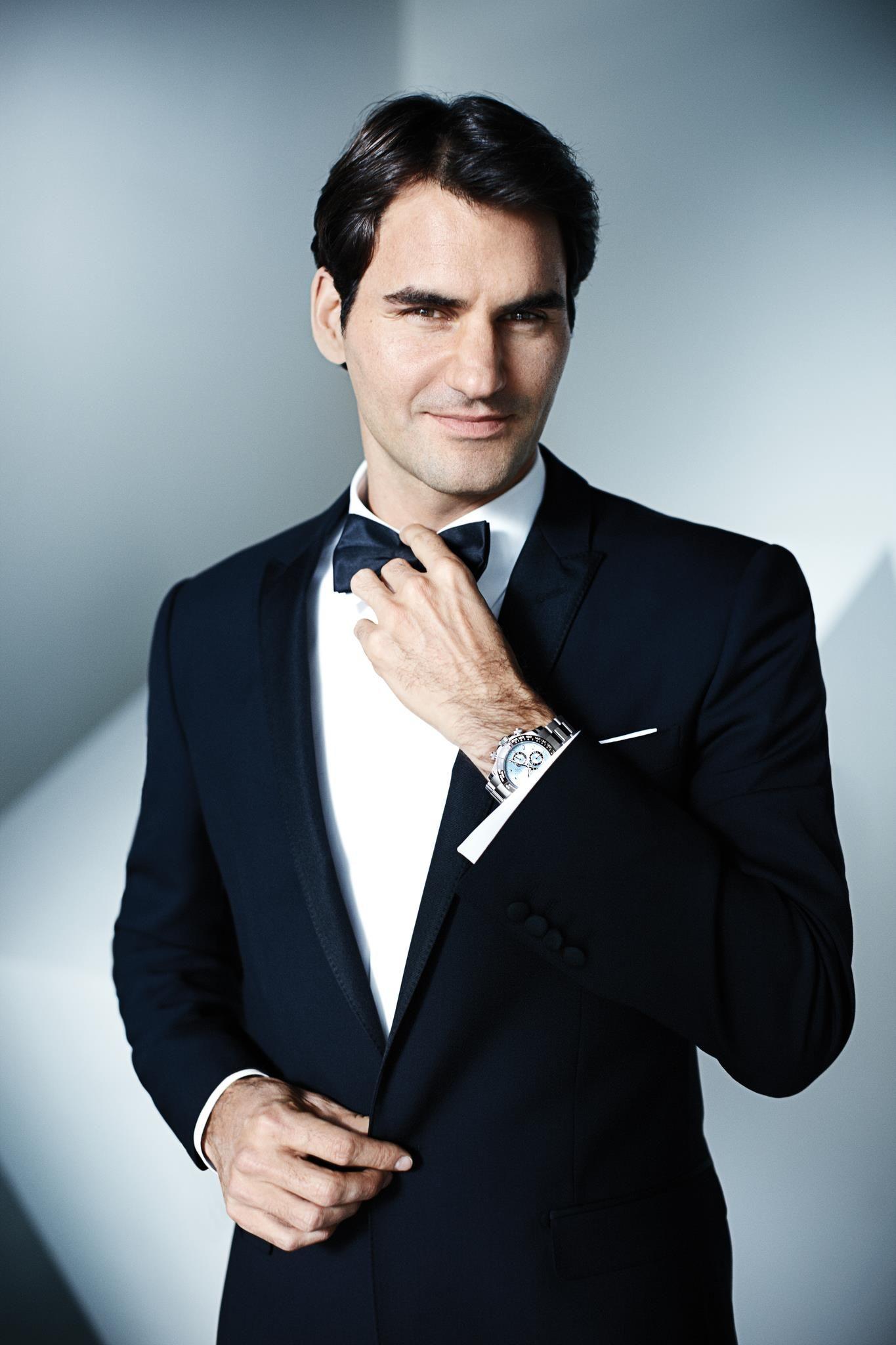Roger Federer In Tuxedo Bow Tie Lenoeudpapillonfr Sport New Knot Styles Diagrams Http Lenoeudpapillonblogspotcom 2012