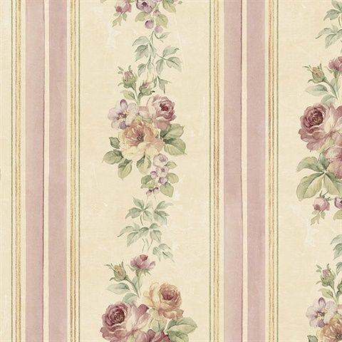 Floral Stripes Wallpaper Cg28802 Modern Floral Wallpaper Modern Floral Wallpaper Pink And Purple Wallpaper Floral Wallpaper