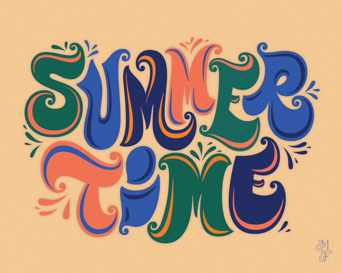 Free Wallpaper Download Hand Lettering For Summer Time With Images Lettering Typography Inspiration Lettering Design