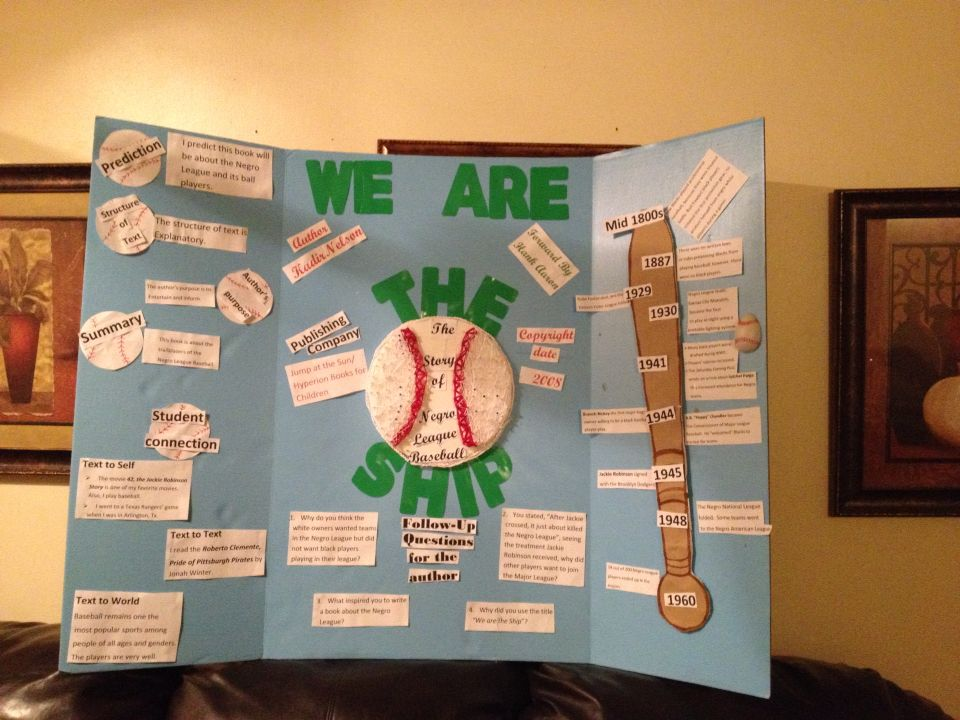 We Are The Ship Baseball Reading Fair Projects Science Fair Projects Science Projects Fair Projects