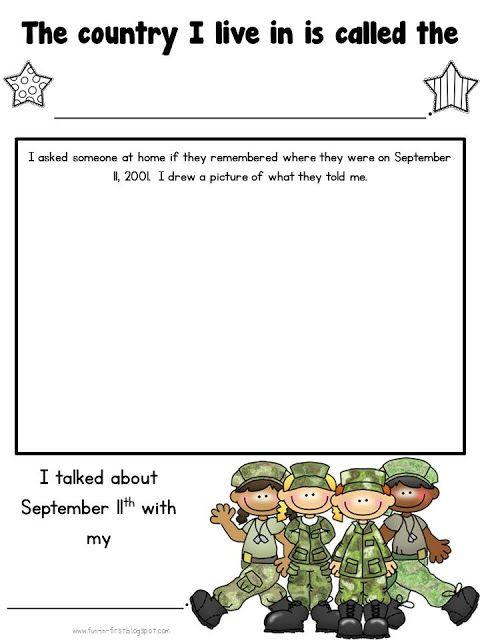 September 11th Freebie | School | Pinterest
