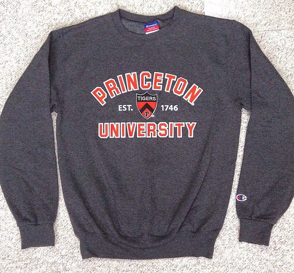 977403f4f1e60 Men(S)PRINCETON UNIVERSITY TIGERS CREWNECK SWEATSHIRT Dark-Gray Orange Crew  SEWN  Champion  PrincetonTigers
