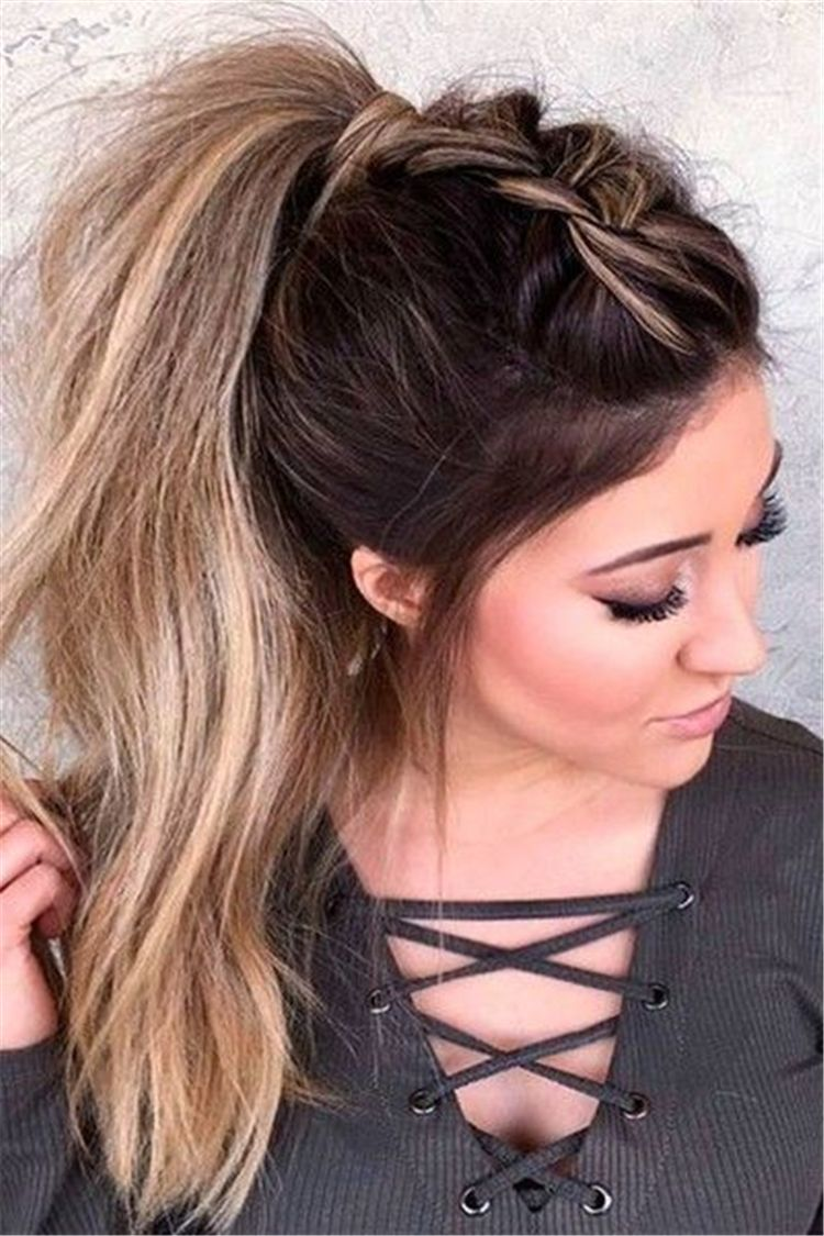 45 Spring Cute Braids Ponytail Hairstyles To Change Your Look Ponytail Hairstyles Easy Easy Hairstyles Long Hair Styles