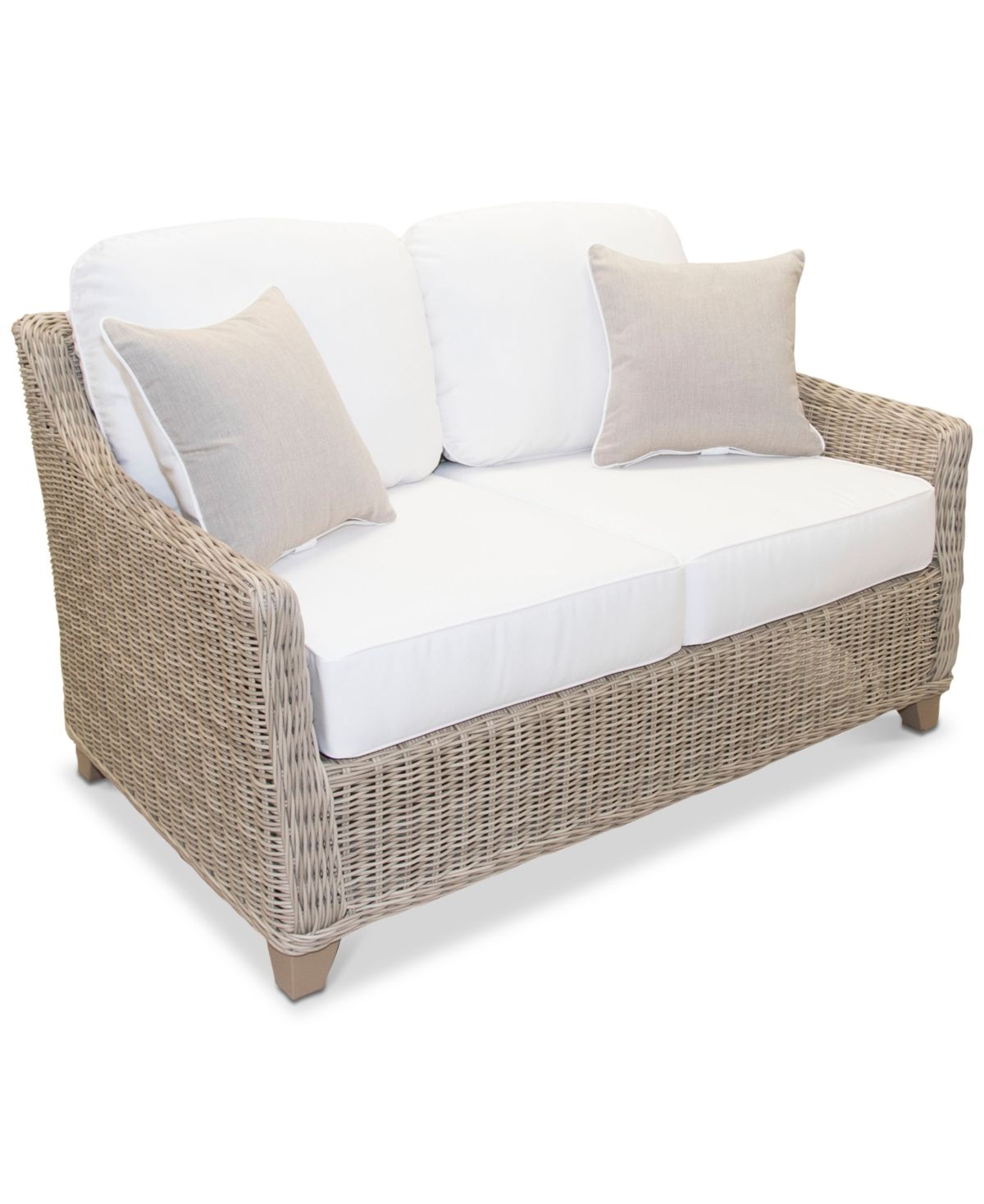 Furniture Willough Outdoor Loveseat With Sunbrella Cushions Created For Macy S Reviews Furniture Macy S In 2020 Outdoor Loveseat Love Seat Sunbrella Cushions