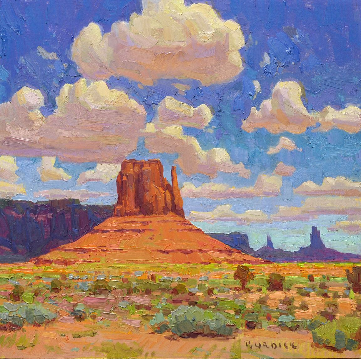 Monument Valley 16x16 Inches Oil By Scott Burdick Art I