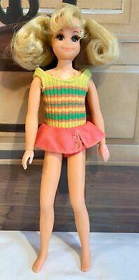 Vintage 1970 Mattel Living Fluff Skipper Doll Friend TNT w/ Original Swimsuit