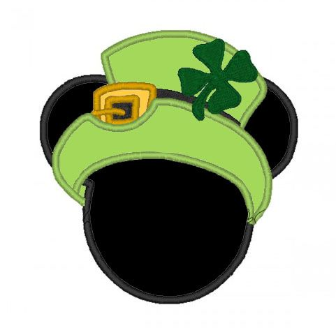 St Patricks Day Mickey Head Applique Shirt