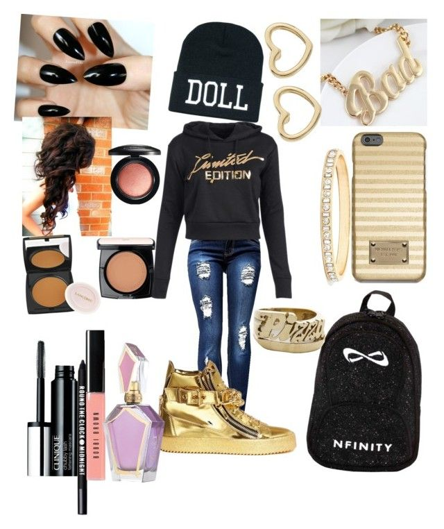 """""""My version of my first day of school☺"""" by sonjahardy ❤ liked on Polyvore featuring moda, Giuseppe Zanotti, MICHAEL Michael Kors, Snash Jewelry, Marc by Marc Jacobs, Clinique, Bare Escentuals, Bobbi Brown Cosmetics, Lancôme e MAC Cosmetics"""