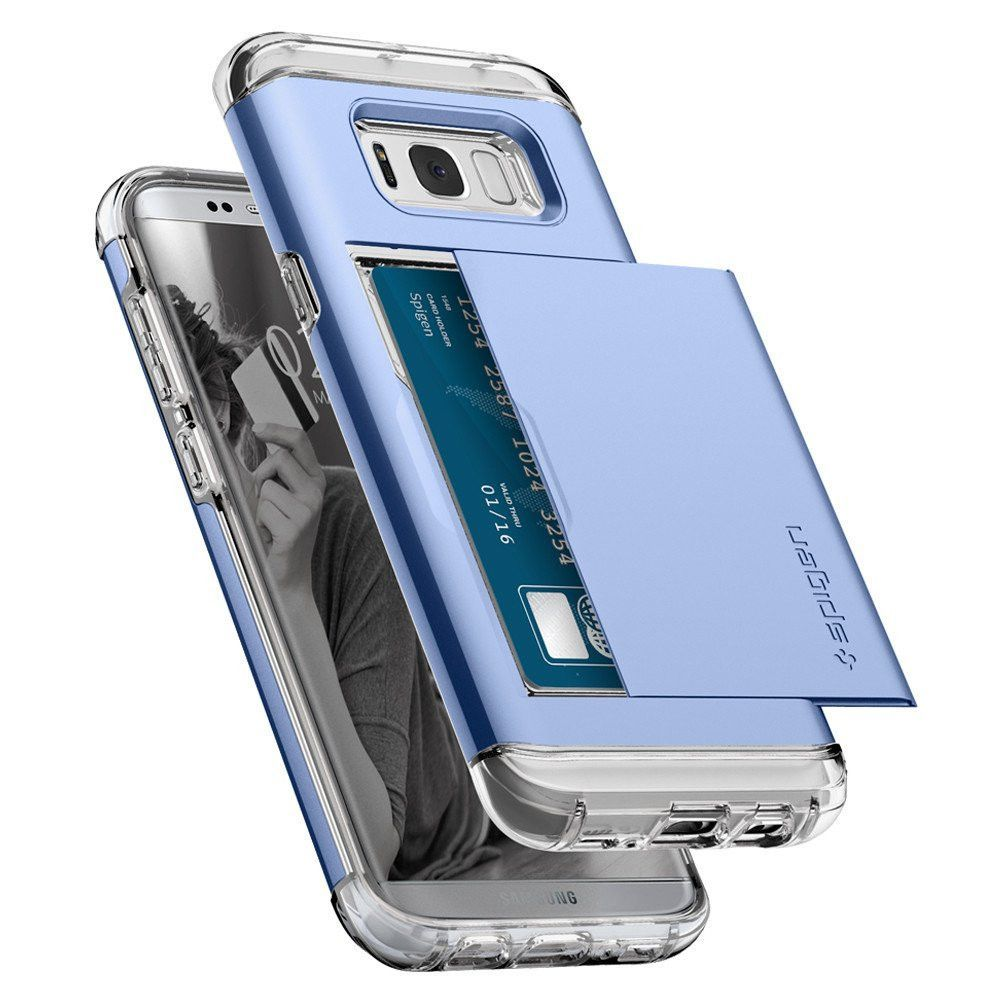 Spigen Crystal Wallet Galaxy S8 Plus Case Blue Coral Crystals Shell For Clear