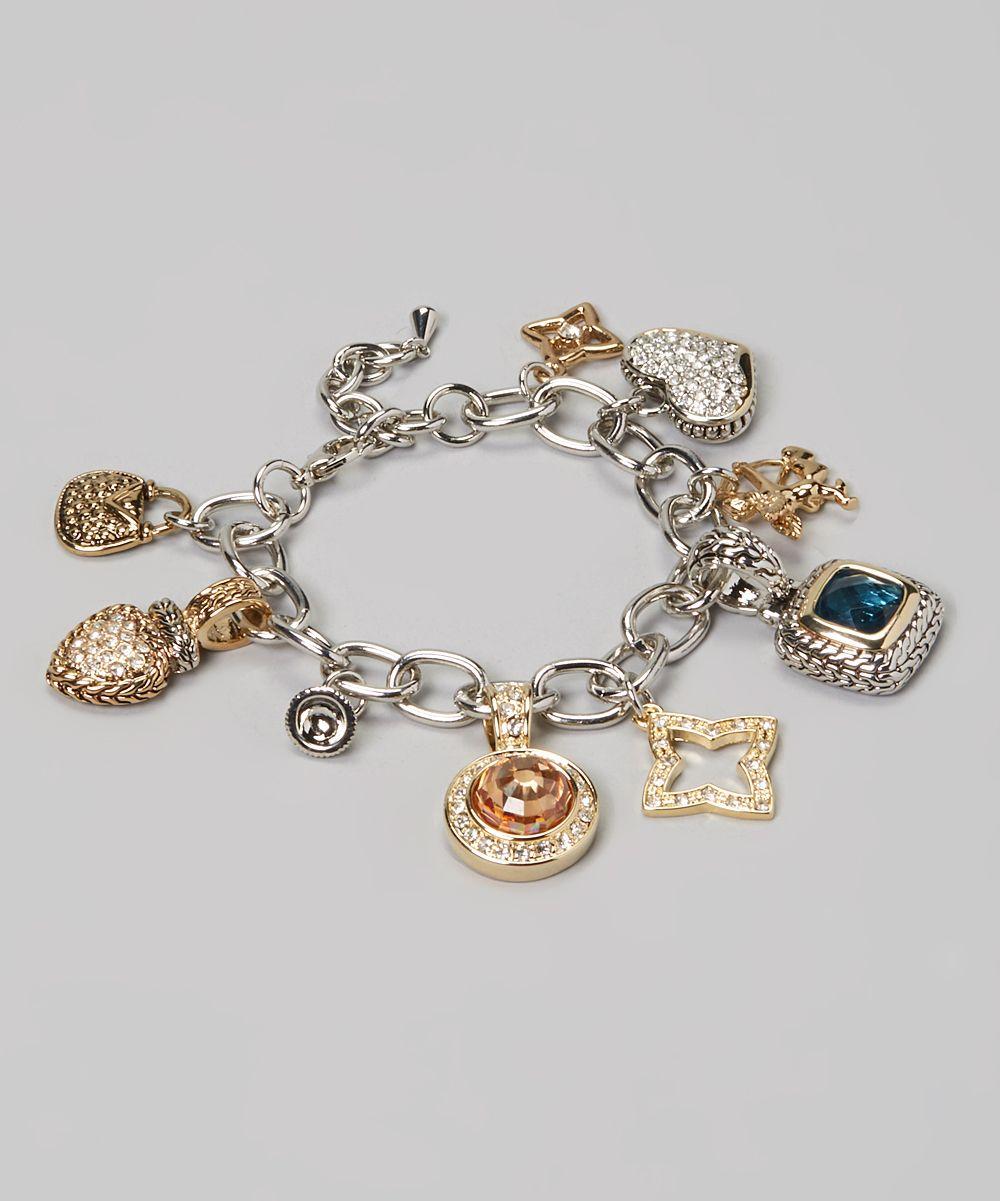Topaz u twotone charm bracelet charms and pins pinterest