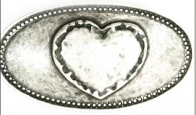 Umjubelt Gürtelschnalle - Bayrisches Herz -