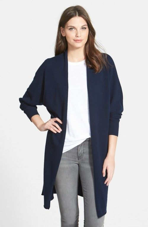 Nordstrom Women's Collection Dolman Sleeve Long Cashmere Cardigan ...
