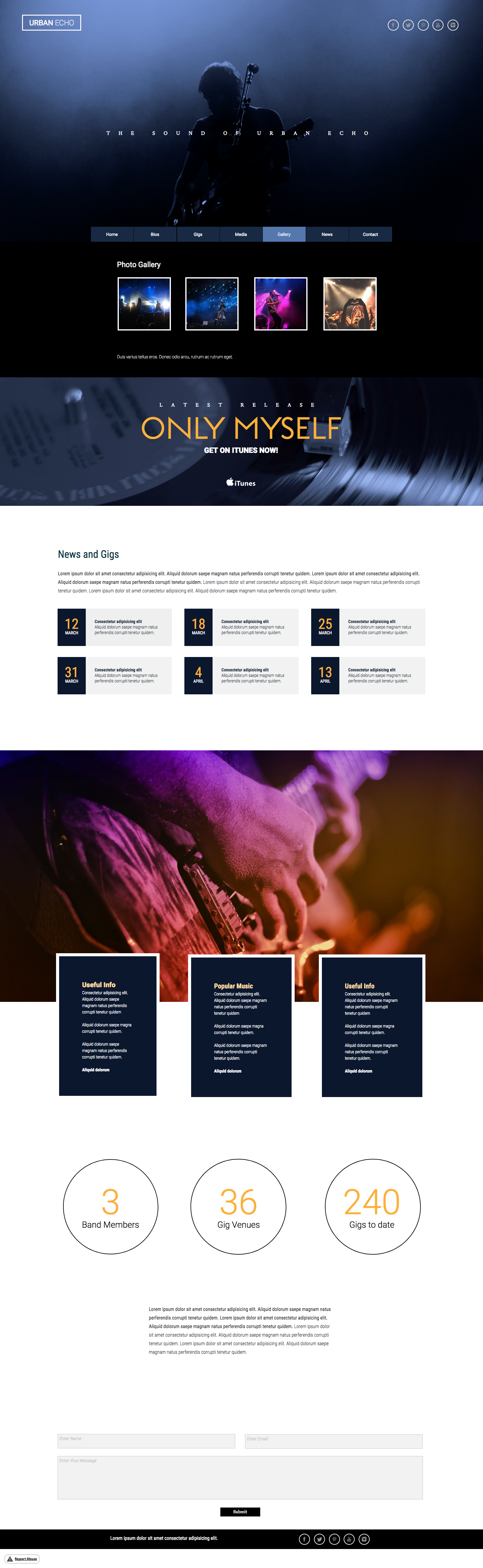 This Is A Fully Responsive Website Or Bands And Groups Web Design Web Design Inspiration Modern Website