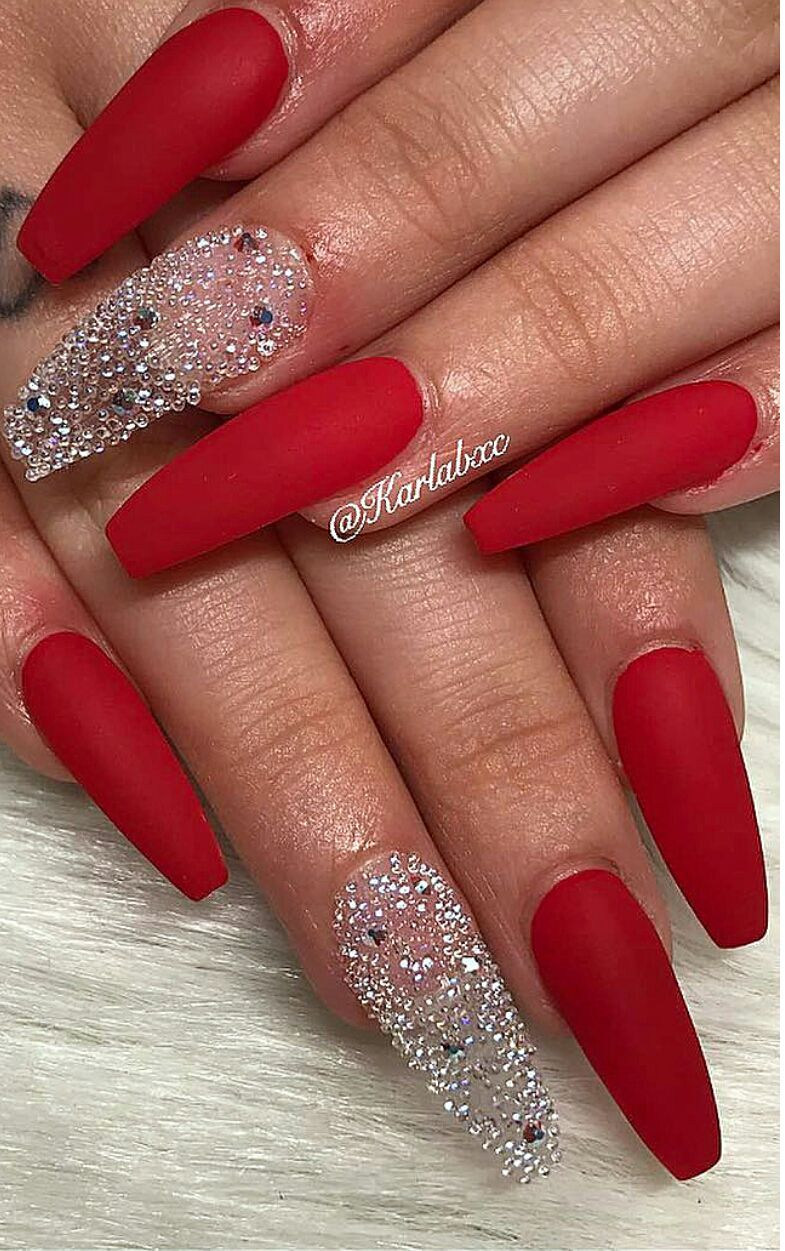 Wrong Number E G D Red Nail Designs Red Acrylic Nails Coffin Nails Designs