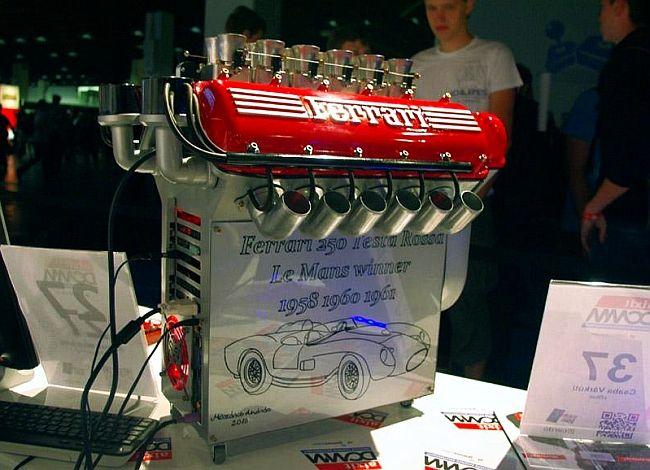Ferrari V12 Engine Computer Case Mod Computer Case Case Design Case